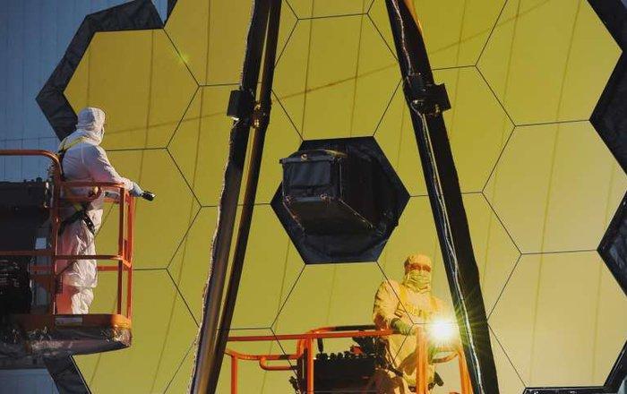 NASA провело первые оптические тестирования космического телескопа «James Webb»