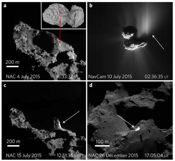 Льды «обезобразили» комету Чурюмова-Герасименко