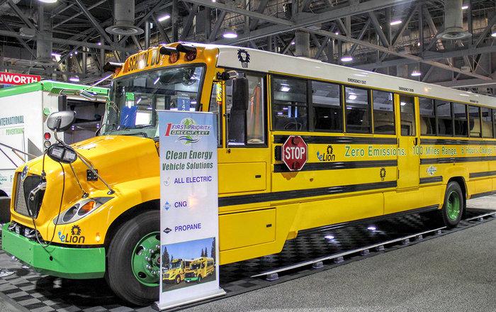 Картинки по запросу Американских школьников будет возить электрический автобус